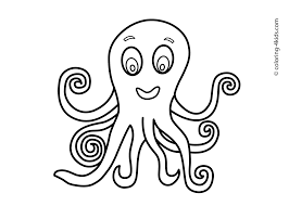 animals coloring pages for kids octopus coloring pages for kids