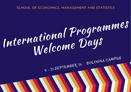Graduate degree in innovation and organization of culture and the     Universit   di Bologna International Programmes Welcome Days