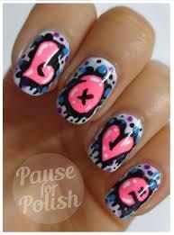 pause for polish love graffiti neon nail art glitz n dirt