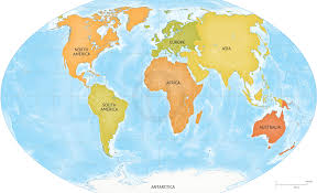 Political Map Of South America Vector Map Of World Bathymetry Continents