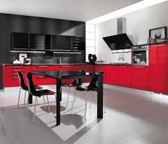 Red White And Black Kitchen Ideas Black And Red Kitchen Designs Red And Black Kitchen Designs