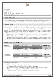 Fresher Resume Format ipnodns ru IT Fresher Resume Format in Word