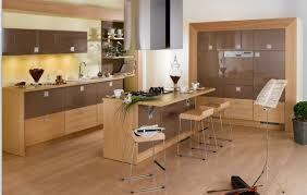 excellent kitchen design with stylish bar stool and wooden kitchen