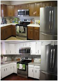 Professional Spray Painting Kitchen Cabinets Remodelaholic Diy Refinished And Painted Cabinet Reviews