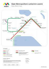 Metro Lines Map by Baku Metro Wikipedia