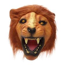 tiger halloween costumes lion head mask creepy animal halloween costume theater prop latex
