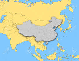 Map Of China Provinces Political Map Of China With The Several Provinces Stock Photo
