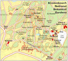 Map of Kirstenbosch National Botanical Gardens | PlanetWare