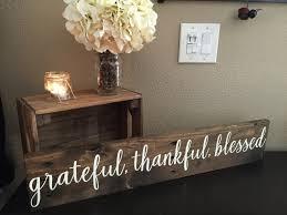 pallet wood sign grateful thankful blessed sign 5 5