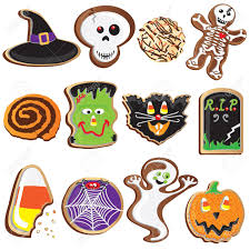 halloween vector art cute halloween cookies clipart elements and icons royalty free