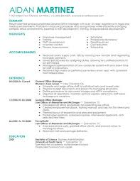 Sample Resume For Admin Assistant by General Administration Sample Resume 3 General Manager Resume