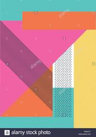 abstract retro 80s background with geometric shapes and pattern