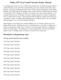 1997 jeep grand cherokee repair manual online by calvin mccray issuu