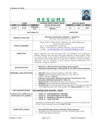 Format Of Resumes 100 Resume Format Of Diploma Mechanical Engineer Vishal