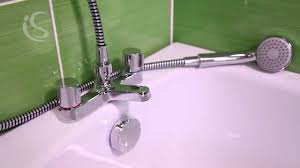 alto 2 hole bath shower mixer with shower set b9675aa youtube