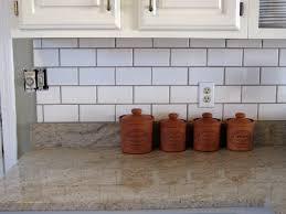 wonderful white subway tile backsplash cabinets kitchen