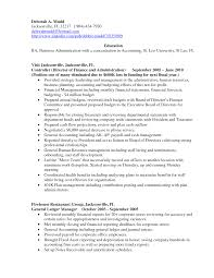 Accounting Resume Examples sample resume accounting no work experience