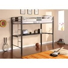 Loft Shelving by Dhp Silver Screen Twin Metal Loft Bed 5461096 The Home Depot