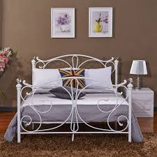 new 4ft 4ft6 double 5ft king size white metal bed frame bedstead