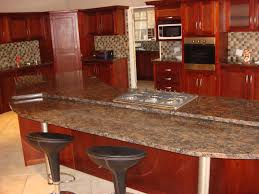 granite kitchen countertops with maple cabinets glass door wall