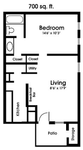 Two Bedroom Apartment Floor Plans 609 Anderson One Bedroom E 600 Square Feet Dream Home