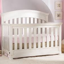 Vintage White Baby Crib by Simmons Castille Collection Crib In Vintage White