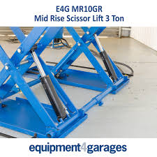 mid rise car scissor lift 3 ton capacity portable e4g mr10g