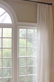 interior windsome curtains for arched windows decoriest home
