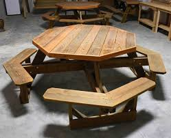 Plans For Wood Picnic Table by Best 25 Octagon Picnic Table Ideas On Pinterest Picnic Table