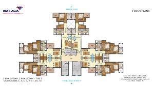 East Wing Floor Plan by Lakeshore Greens Layout And Floor Plan Lodha Palava