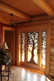 hand carved wooden tree front door for the home pinterest