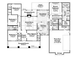 craftsman style house plan 4 beds 2 5 baths 2400 sq ft plan 21