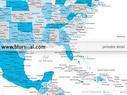 Usa States And Capitals Map by Personalized North America Map Highly Detailed North America