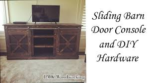 Diy Barn Doors by Sliding Barn Door Console And Diy Barn Door Hardware Youtube