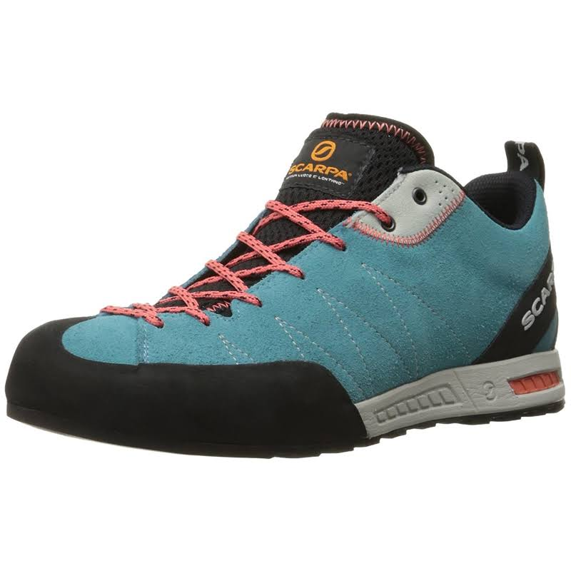 Scarpa Gecko Approach Shoes Ice Fall/Coral Red Medium 38.5 72601/352-IfallCred-38.5