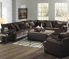 Chocolate Living Room Furniture by Barkley Large L Shaped Sectional Sofa With Right Side Loveseat By