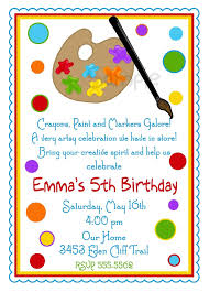 Invitation Card Store Art Birthday Party Invitations Theruntime Com