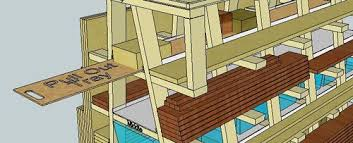 Rolling Wood Storage Rack Plans by Virtual Designs In Sketchup 5 Rolling Wood Storage Rack By