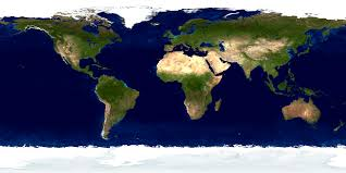 Colored World Map by Nasa Visible Earth The Blue Marble Land Surface Ocean Color And