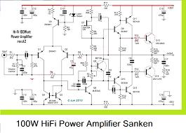 home theater circuit diagram 100w hifi power amplifier circuit with sanken circuit diagram