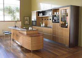 wooden kitchen for classy look with japanese touch design idea