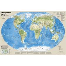 Tectonic Plate Map The Dynamic Earth Plate Tectonics Map National Geographic Store