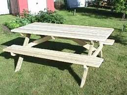 Free Wooden Picnic Table Plans by Make A Picnic Table Free Plans