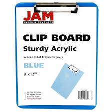 amazon com jam paper plastic clipboards 9 x 13 in blue