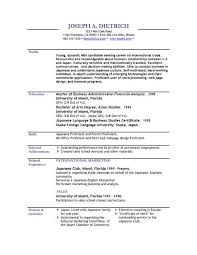 Resume Profile Examples CV Plaza