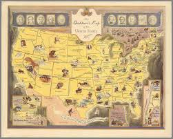 Unite States Map by Vintage Literary Map Of The United States Florida Verve