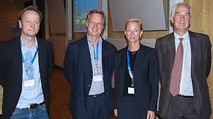 Från vänster: Rikard Forslid, Pontus Braunershjelm, Karolina Ekholm och Anthony Venables. Entreprenörskapsforum stod som värd för en session där VD, ... - img_ERSA_panel2