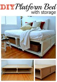 How To Build A Queen Platform Bed Frame by 21 Diy Bed Frame Projects U2013 Sleep In Style And Comfort Diy U0026 Crafts