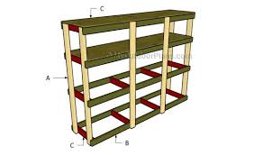 Free Woodworking Plans Shelves by How To Build Garden Shelves Myoutdoorplans Free Woodworking