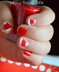 diy santa hat nail art